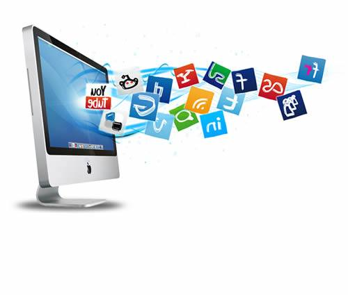 engajamento de mídia sociais com botões sociais
