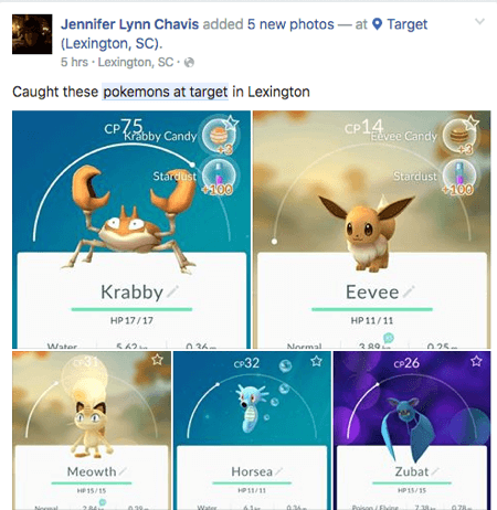 pokemon go ação mídia social